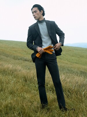 Slim-fit Italian Stretch-Wool Suit Jacket + Tapered Trousers SET_2color