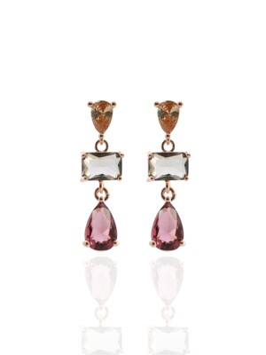 Quartz `drop` Earrings