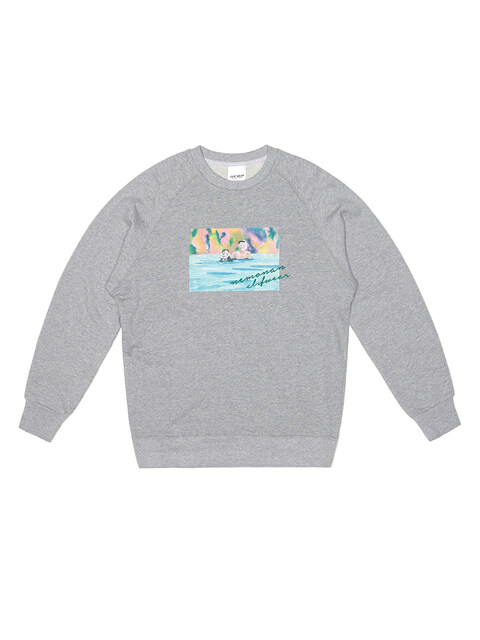 CLIF X NEMONAN SWEATSHIRTS (GRAY)