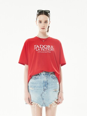 18SP FICTION T-SHIRT(RED)