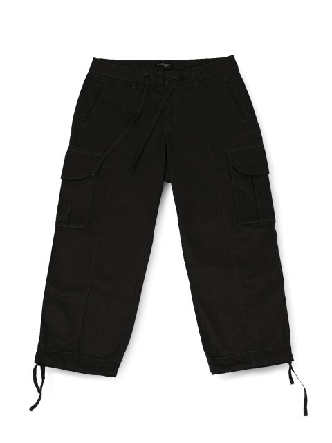 B.D.U WIDE STRING PANTS (BLACK)