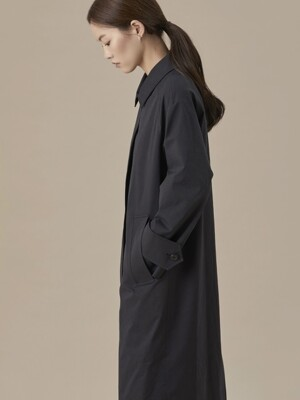 Single Fall Coat Black