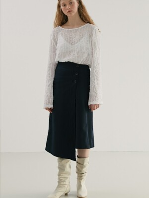 UNBALANCE BUTTON SKIRT