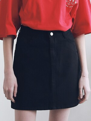 BASIC TWILL COTTON SKIRT ASK191001-BK