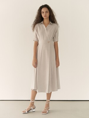 19RESORT COLLAR WRAP DRESS_2COLOR