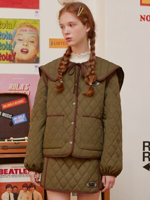 [단독](JP-19704) SAILOR QUILTING JUMPER KHAKI