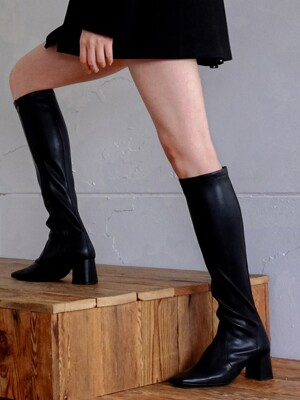 Span knee high socks boots_19bl