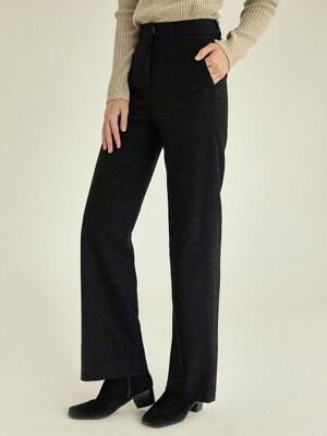 Modern straight slacks[black]