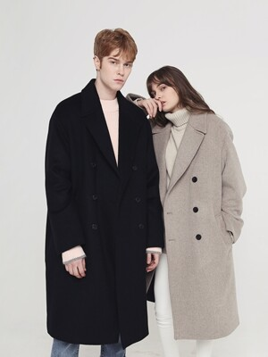 [UNISEX] OVERSIZED DOUBLE LONG COAT