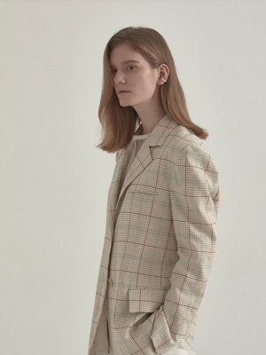 Moulin Classic Single Jacket_Beige Check