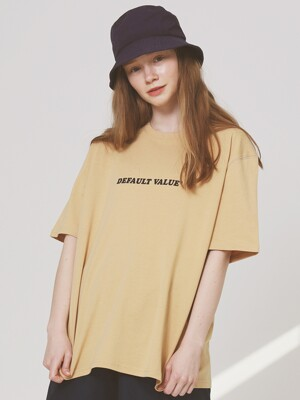 DV TEXT TEE(BEIGE)