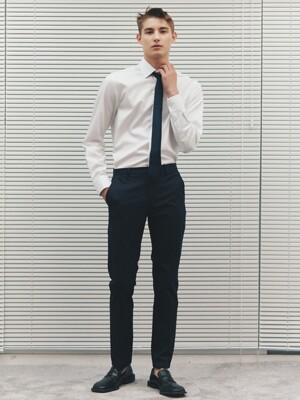 Slim-Fit Plain Chinos