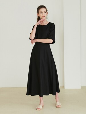 Banding skirt dress_Black