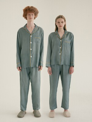 (인견) (Couple) Norway Pajama Set