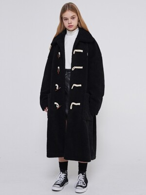 MG9F DUMBLE DUFFLE COAT - BLACK