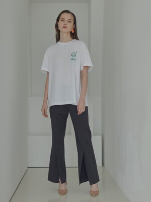 front deep slit pants