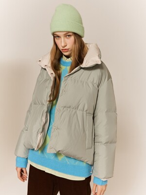 [x HACIE] Puffy Reversible Goose Down Short Jacket (2colors)