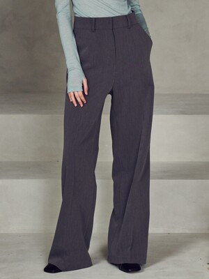High waist wide pants_Charcoal