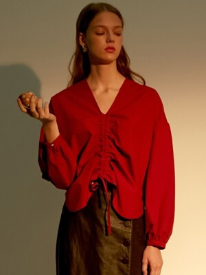 comos'47 center string blouse (red)