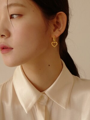 Alice Heart Bubble Earring