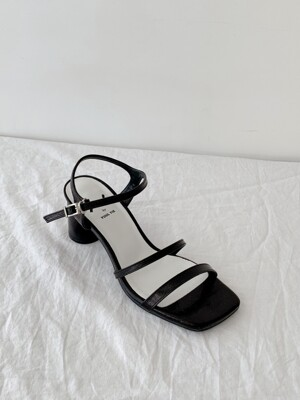 Meringue sandals 6cm / YY9S-S30 Metalic black