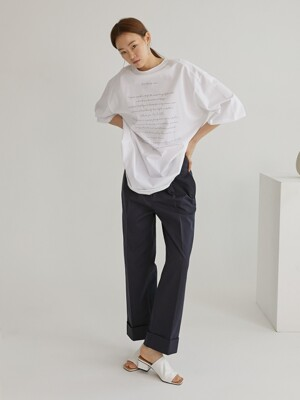 Roll-up chino pants_Navy