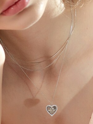 LETTERING HEART COIN NECKLACE