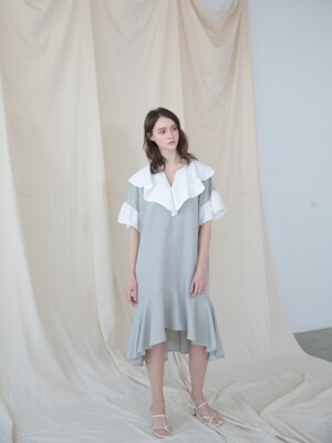 White Ruffle Dress_MINT