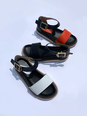Daily Strap Shining Cubic Point Sandal
