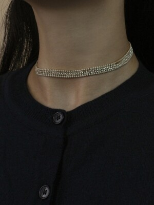 S LINE PEARL CRY CHOCKER (2 COLORS)