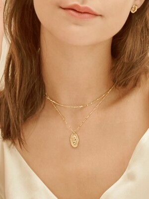 elizabeth pendant layered necklace