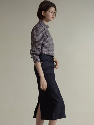 Selvage H-line denim skirts