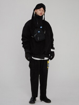 Able neck fleece Noir