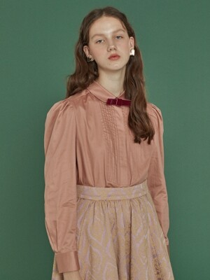 pintuck shirts blouse_pink