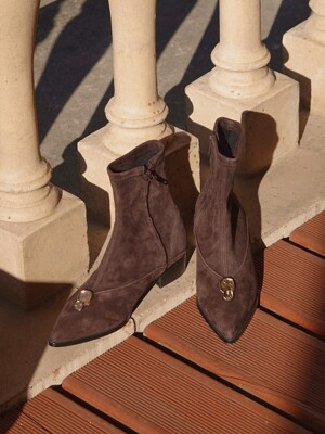 [단독]Winklepickers boots Brown Suede