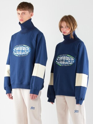 Globe Turtleneck Sweatshirt (NAVY)