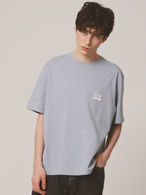 DV SIGN LOGO TEE(BLUE)