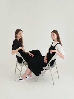 [EXCLUSIVE] 20' Summer_Black Pocket Pleats Dress