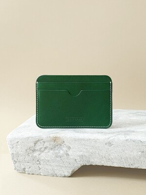 Italian Vegetable Pebble Card Wallet Leaf Green