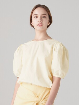 Back tied blouse - Light yellow