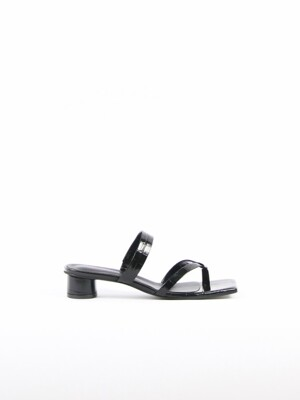 Mirabelle Sandals Leather Black Crocco
