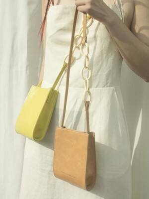 Chain Pointed Toast Bag_ Salmon