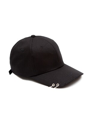 MACK CURVE RING CAP (B) BLACK