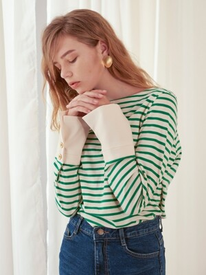 Stripe Cuffs T_Green
