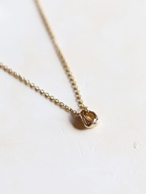 Tiny gold ring necklace