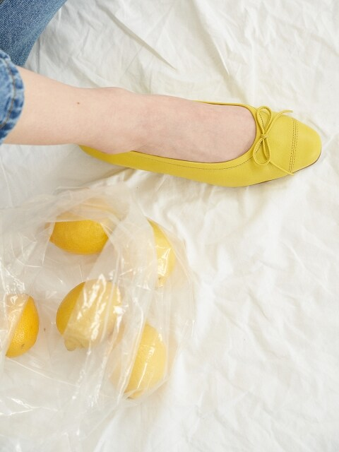 clover flat shoes - yellow