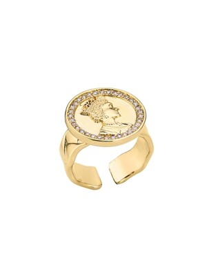 Vintage Coin Ring (gold, silver)