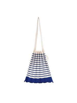 [단독] Lucky Pleats Knit M Stripe Royal Blue
