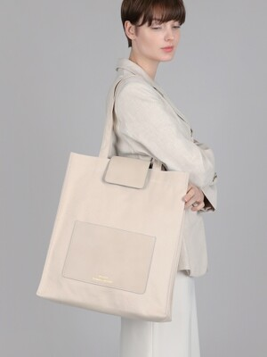 beige pocket bag