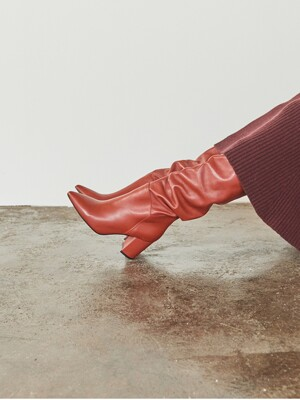 [EXCLUSIVE] LEATHER KNEEHIGH BOOTS_BRICK RED